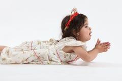 Kleines Mädchen in der Tiara Lizenzfreie Stockfotos