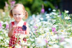 Kleines Mädchen in der Wiese lizenzfreie stockfotos