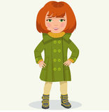 Kleines Mädchen in der Winterkleidung Stockbilder