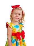 Kleines Mädchen des glücklichen Frühjahres Stockfotos