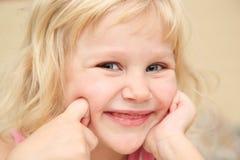 Kleines Mädchen des Portraits Stockbilder