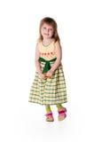 Kleines Mädchen des smiley Stockfotos