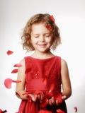 Kleines Mädchen des Studioportraits Lizenzfreie Stockbilder