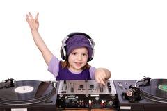 Kleines Mädchen DJ stockfotos