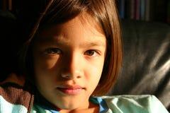 Kleines Mädchen - ein Gesicht der Versprechung Stockbild