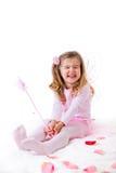 Kleines Mädchen in einem feenhaften Kostüm Stockbild