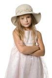 Kleines Mädchen in einem Hut stockbild