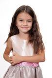 Kleines Mädchen in einem Kleid stockfoto