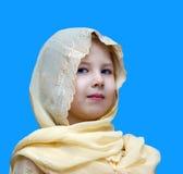 Kleines Mädchen in einem Tanzenkleid Stockbilder