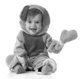 Kleines Mädchen gekleidet wie ein Welpe Stockfotografie