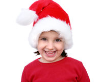 Kleines Mädchen gekleidet wie Sankt Stockbild