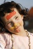Kleines Mädchen gemalt Lizenzfreie Stockfotos