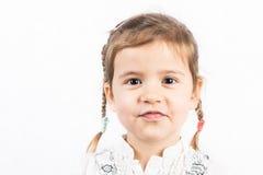 Kleines Mädchen getrennt auf Weiß Lizenzfreies Stockfoto