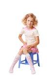 Kleines Mädchen getrennt auf Weiß Stockbild