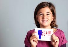 Kleines Mädchen hat eine gute Idee Lizenzfreies Stockfoto
