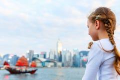 Kleines Mädchen in Hong Kong Lizenzfreie Stockfotografie