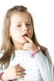 Kleines Mädchen im Blau stockbild