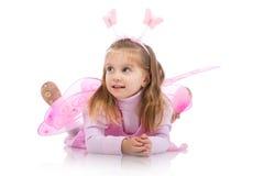 Kleines Mädchen im feenhaften Kostüm Lizenzfreies Stockfoto