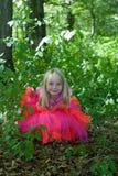 Kleines Mädchen im feenhaften Kostüm Lizenzfreie Stockfotos