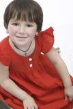 Kleines Mädchen im Kleid Stockfotos