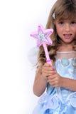Kleines Mädchen im Kostüm Stockbild