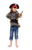 Kleines Mädchen im Kostüm des Piraten Stockbild