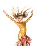 Kleines Mädchen im Prinzessinkostüm Lizenzfreies Stockfoto