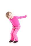 Kleines Mädchen im Rosa Lizenzfreie Stockfotos