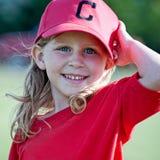Kleines Mädchen im Tball-Hut Stockfoto