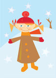 Kleines Mädchen im Winter Lizenzfreie Stockfotos