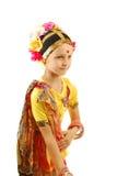 Kleines Mädchen Indertänzer stockfotos