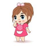 Kleines Mädchen, Kindervektor-Illustration Stockbilder