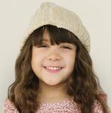 Kleines Mädchen-lächelndes Glück-Studio-Porträt Stockfoto