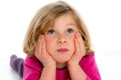 Kleines Mädchen langweilt sich Stockfotografie