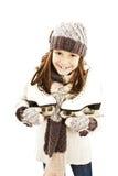 Kleines Mädchen mit Abbildung Rochen Lizenzfreie Stockfotografie