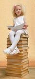 Kleines Mädchen mit dem blonden Haar Lizenzfreies Stockbild