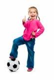 Kleines Mädchen mit der Kugel Stockbilder
