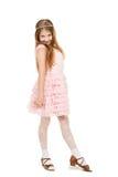 Kleines Mädchen mit einem Diadem lokalisiert lizenzfreies stockbild