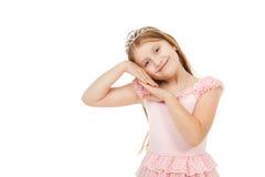 Kleines Mädchen mit einem Diadem lokalisiert lizenzfreie stockfotografie