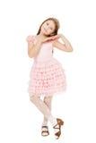 Kleines Mädchen mit einem Diadem lokalisiert lizenzfreie stockfotos