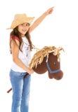 Kleines Mädchen mit einem Pferd Lizenzfreies Stockbild