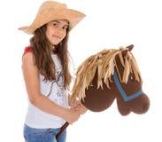 Kleines Mädchen mit einem Pferd Stockbild