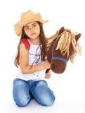 Kleines Mädchen mit einem Pferd Lizenzfreie Stockbilder