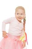 Kleines Mädchen mit einer langen Borte Lizenzfreies Stockbild