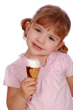 Kleines Mädchen mit Eiscreme Lizenzfreies Stockbild