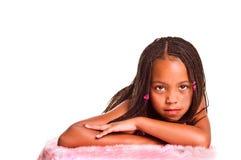 Kleines Mädchen mit Flechten Lizenzfreies Stockbild