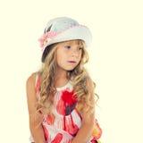 Kleines Mädchen mit Hut Lizenzfreie Stockbilder