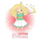 Kleines Mädchen mit Krone Lizenzfreies Stockfoto
