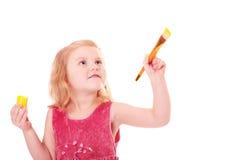 Kleines Mädchen mit Lack stockfotografie