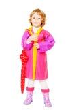 Kleines Mädchen mit Regenschirm Lizenzfreie Stockfotos